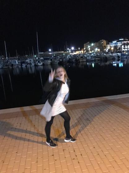Party Abend am Hafen von Denia